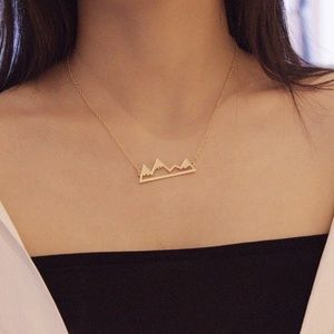 Mountain Range Pendant Necklace